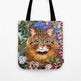 Louis Wain's Cats - Cat In the Garden Tote Bag