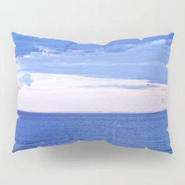 Blue on Blue at the River Mouth Pillow Sham