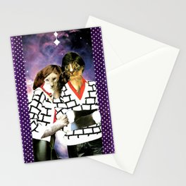 ME + U 4EVA handcut collage Stationery Cards