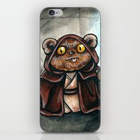 ewok iPhone & iPod Skins featuring Ewok Jedi by Megan Mars