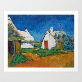 Vincent van Gogh - White cottages at Saintes-Maries (1888) Art Print