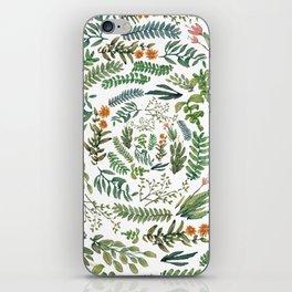 circular new white garden iPhone Skin