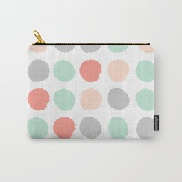 Painted minimal dots trendy gender neutral bright happy color palette nursery art Carry-All Pouch