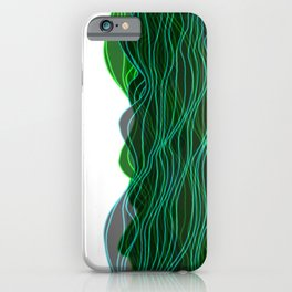 Parallel Lines No.: 03. - Blue-Green, Symmetrical iPhone Case