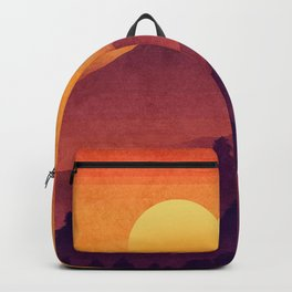 Sunset In The Misty Mountains Backpack