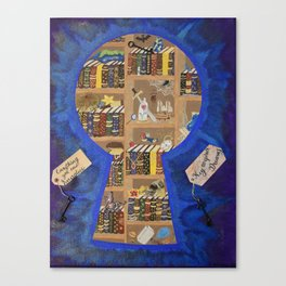 My Dream Library Canvas Print