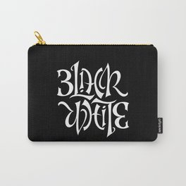 Black/White Carry-All Pouch