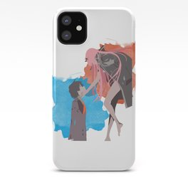 DARLING in the FRANXX Minimalist (Hiro and Zero Two) iPhone Case