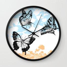 Butterflies print Wall Clock