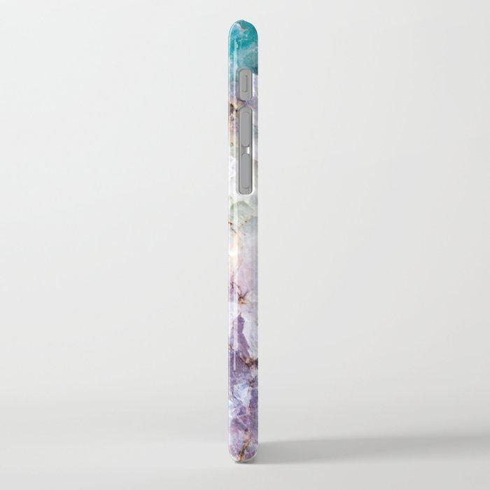 Turquoise & Purple Quartz Crystal iPhone Case