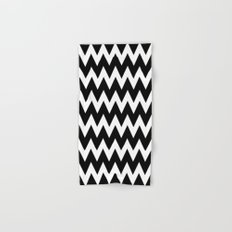 Chevron Black & White Hand & Bath Towel