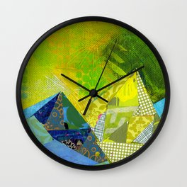 Love You to the Mountains and Back Collage Wall Clock