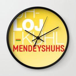 Pathological Mendeyshuhs Wall Clock