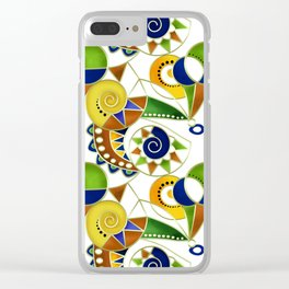 Abstraction . Colorful pattern in yellow green tones . Clear iPhone Case