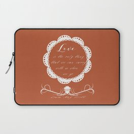 Love by louisa may alcott love quote calligraphy wall art print Laptop Sleeve