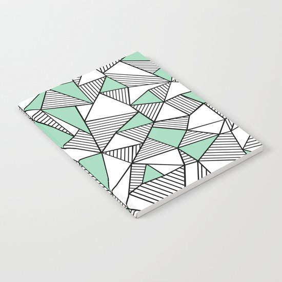 Abstraction Lines with Mint Blocks Notebook