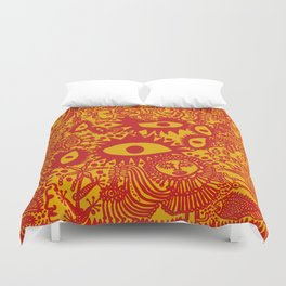 Yayoi Kusama - Feeling Happy Out In The Field Duvet Cover