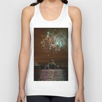 fireworks Tank Tops featuring Fireworks by Christine Workman