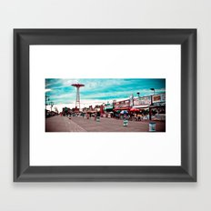 Coney Island The Best Place on Earth! Framed Art Print