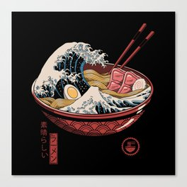 Great Ramen Wave Canvas Print