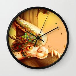 Autumn dragon Wall Clock