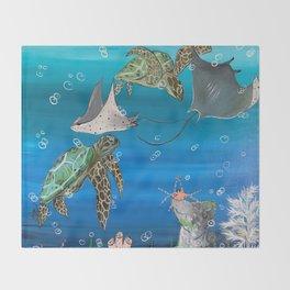 Four Swim Throw Blanket
