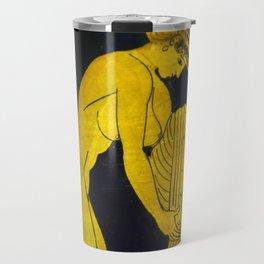 Ancient Greek Painting of Young Woman Travel Mug