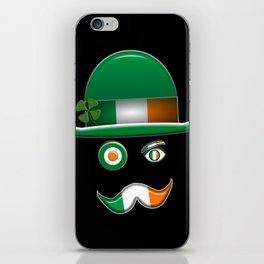Irish Flag Face. iPhone Skin