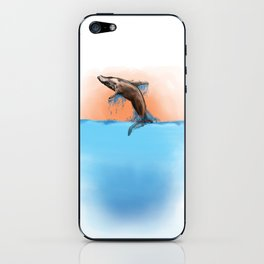 Breaching Whale iPhone Skin