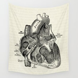 Vintage Anatomy Heart Medical Illustration Wandbehang