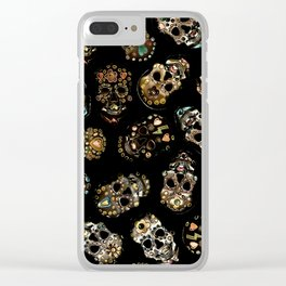 skull family Clear iPhone Case