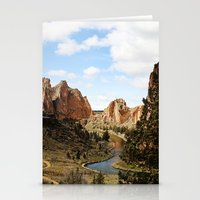 melissa smith Stationery Cards featuring Smith Rock by Sylvia Cook Photography