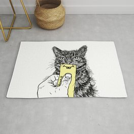 Cat Emoji - P0st it with a smile Rug