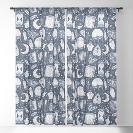 Dark Mystical Sheer Curtain