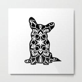Corgi Mandala Metal Print