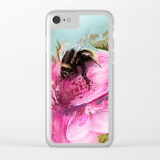 Bee on flower 17 Clear iPhone Case