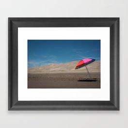 Sand Dunes Beach Framed Art Print