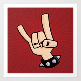 Heavy Metal Devil Horns Hand Sign Art Print