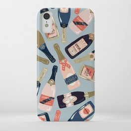 French Champagne Collection – Navy & Coral iPhone Case