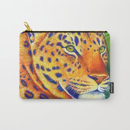 Colorful Leopard Big Cat Wild Cat Carry-All Pouch