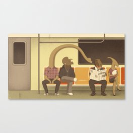 Dino Subway Canvas Print