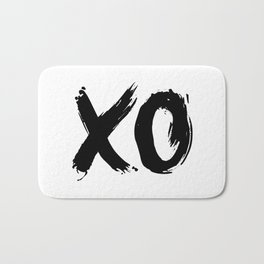 XOXO Hugs and Kisses black and white gift for her girlfriend bedroom art and home room wall decor Bath Mat