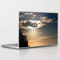 san diego Laptop & iPad Skins featuring San Diego Sunset by lightpainter