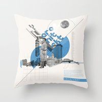 architect Throw Pillows featuring Architect by Kacper Kieć