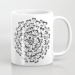 Concentric Hearts Coffee Mug