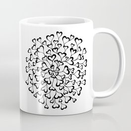Concentric Hearts Coffee Mug
