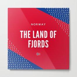 Norway the Land of Fjords Metal Print