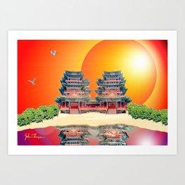 Double Pagoda Art Print