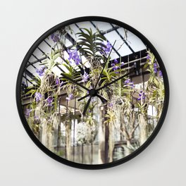 Orchids in the Air  //  The Botanical Series Wall Clock