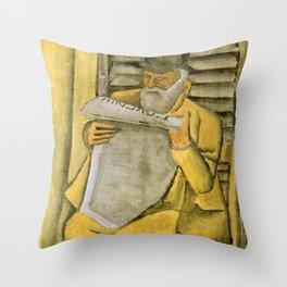 Man figure - Joaquin Torres Garcia Throw Pillow